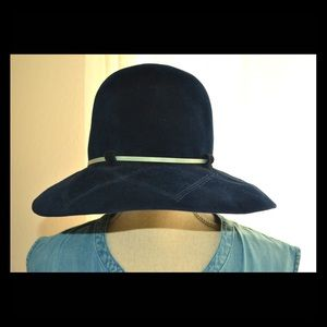 Accessories - Vintage blue festival hat, germany, blue stitching